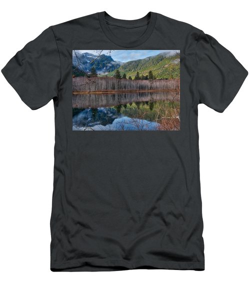 Mountain Lake Reflections Men's T-Shirt (Athletic Fit)