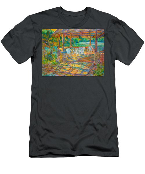 Mountain Lake Shadows Men's T-Shirt (Athletic Fit)
