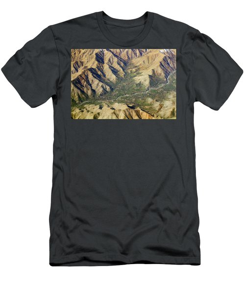Men's T-Shirt (Athletic Fit) featuring the photograph Mountain Valley Village by SR Green