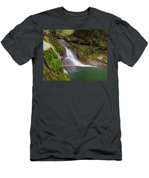 Mountain Waterfall II Men's T-Shirt (Athletic Fit)