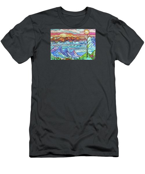 Mountains And Sea Men's T-Shirt (Athletic Fit)