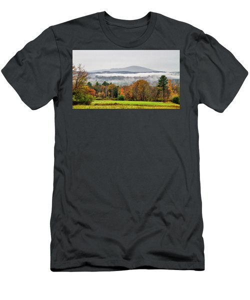 Men's T-Shirt (Athletic Fit) featuring the photograph Mt. Kearsage Foggy View by Betty Pauwels