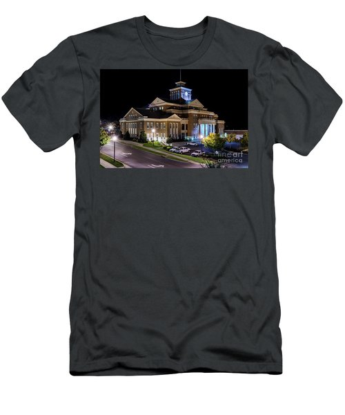 Municipal Center At Night - North Augusta Sc Men's T-Shirt (Athletic Fit)
