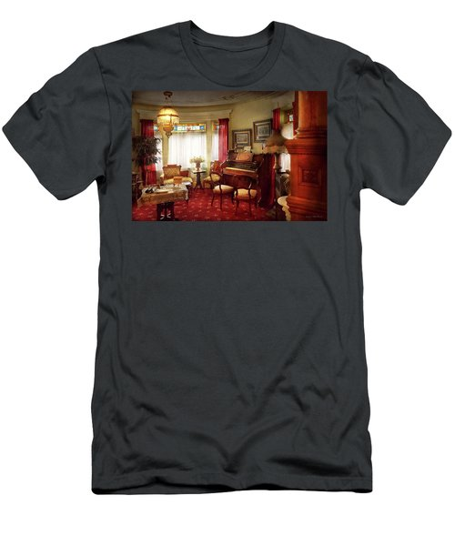 Men's T-Shirt (Athletic Fit) featuring the photograph Music - Organ - In The Parlor by Mike Savad