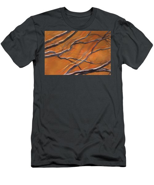 Men's T-Shirt (Athletic Fit) featuring the mixed media Mystic Forest 12 by Lynda Lehmann