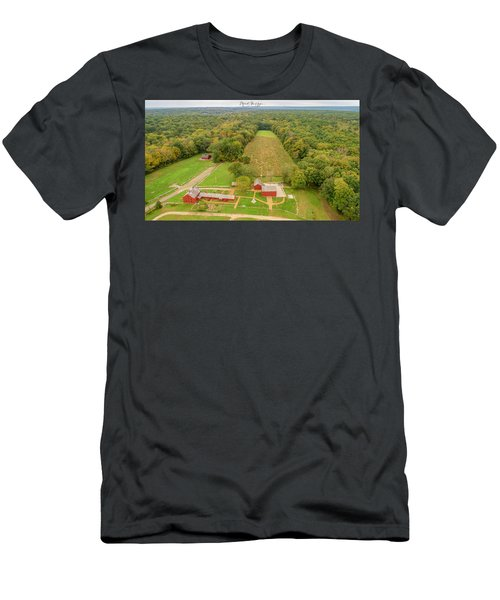 Men's T-Shirt (Athletic Fit) featuring the photograph Nathan Hale Homestead by Michael Hughes