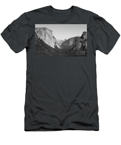 Nature At Its Best - Black-white Men's T-Shirt (Athletic Fit)