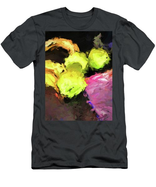 Neon Apples With Bananas Men's T-Shirt (Athletic Fit)