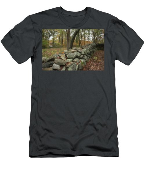 New England Stone Wall 1 Men's T-Shirt (Athletic Fit)