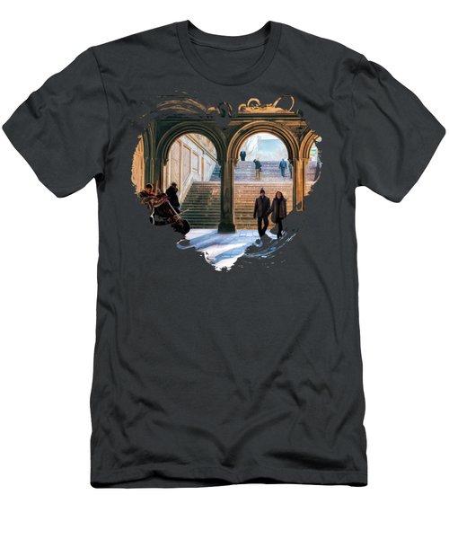 New York City Central Park Bethesda Terrace Arcade Men's T-Shirt (Athletic Fit)