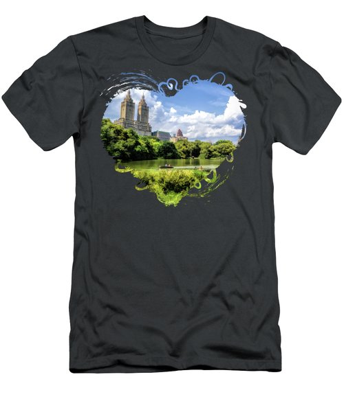 New York City Central Park Lake Rowboats Men's T-Shirt (Athletic Fit)