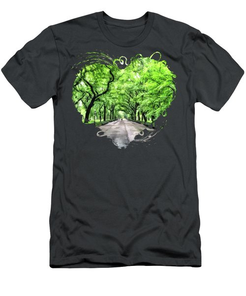 New York City Central Park Mall Men's T-Shirt (Athletic Fit)