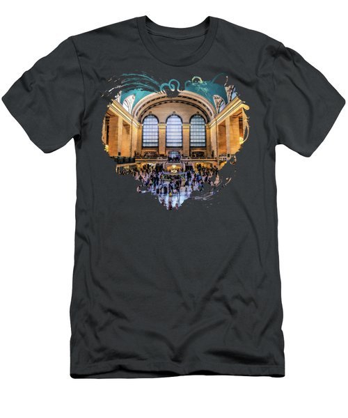 New York City Grand Central Terminal Men's T-Shirt (Athletic Fit)