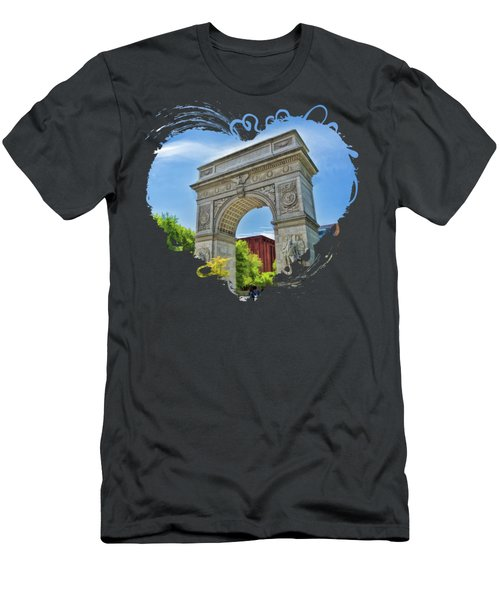New York City Washington Square Park Men's T-Shirt (Athletic Fit)