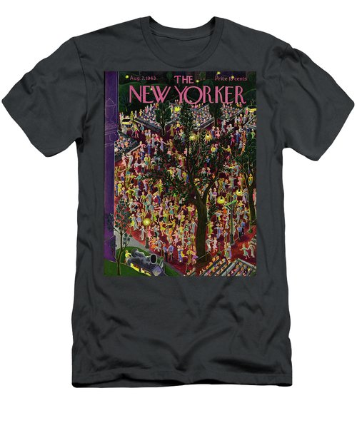 New Yorker August 7th 1943 Men's T-Shirt (Athletic Fit)