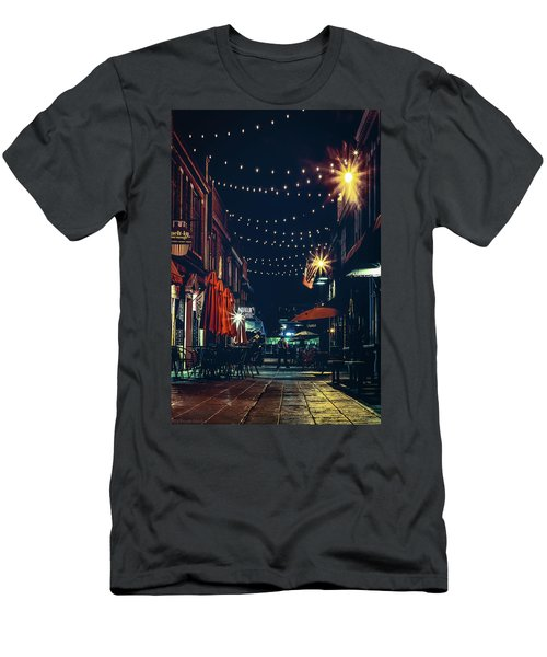 Night Dining In The City Men's T-Shirt (Athletic Fit)