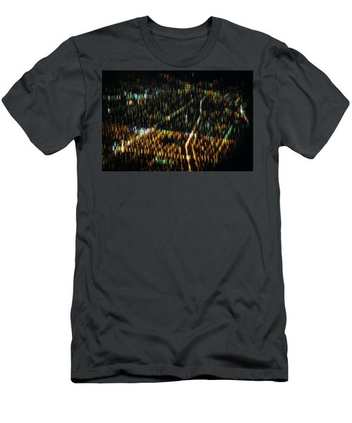 Men's T-Shirt (Athletic Fit) featuring the photograph Night Flight by Melissa Lane