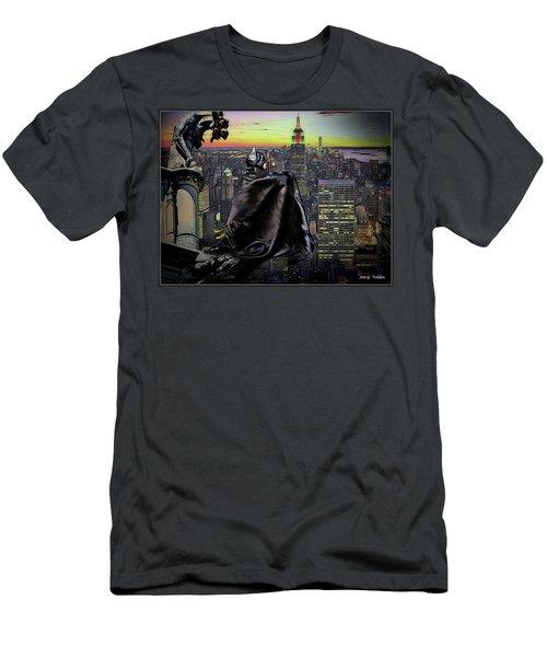 Night Of The Bat Man Men's T-Shirt (Athletic Fit)
