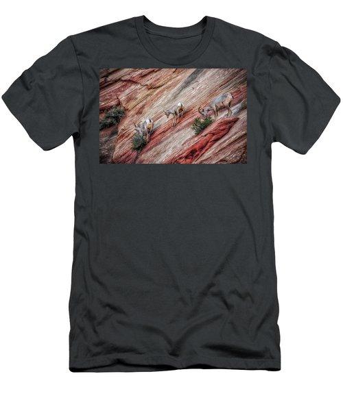 Nimble Mountain Goats 5694 Men's T-Shirt (Athletic Fit)