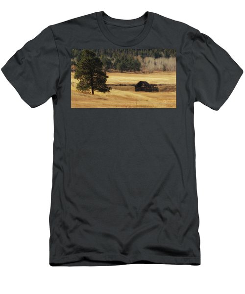 Men's T-Shirt (Athletic Fit) featuring the photograph Noble Meadow Barn by Lukas Miller