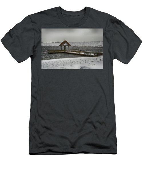 Men's T-Shirt (Athletic Fit) featuring the photograph Nobody Fishing by Edward Peterson