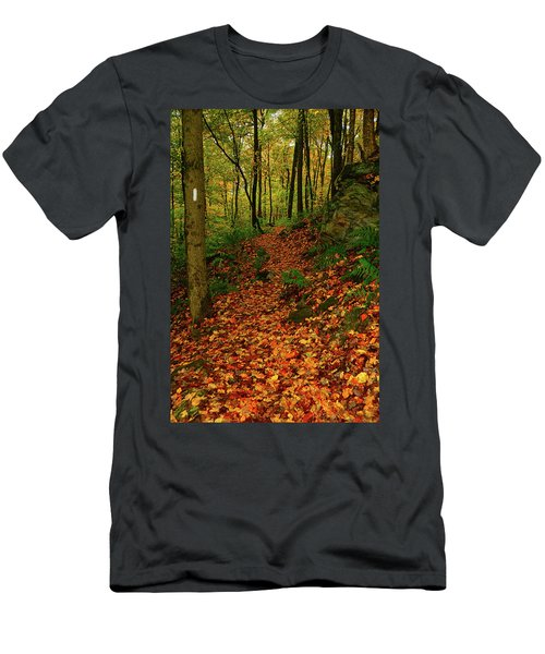 Men's T-Shirt (Athletic Fit) featuring the photograph North Side Of Mount Greylock's At by Raymond Salani III