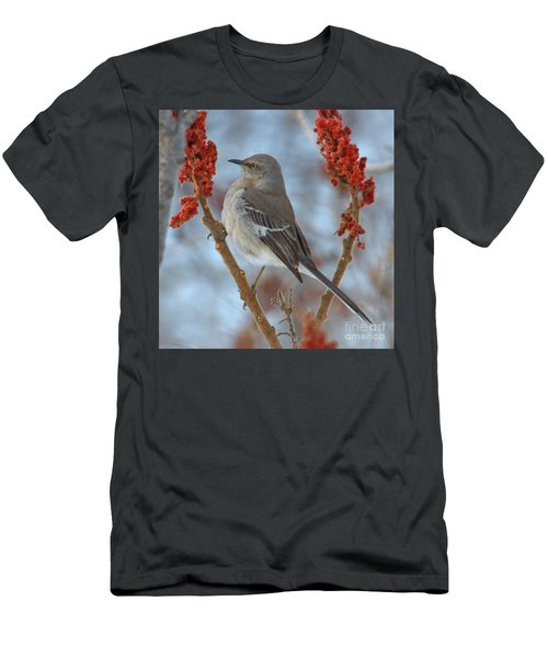 Men's T-Shirt (Athletic Fit) featuring the photograph Northern Mockingbird by Debbie Stahre
