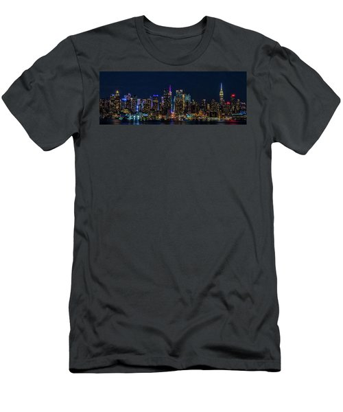 Men's T-Shirt (Athletic Fit) featuring the photograph Nyc At Night by Francisco Gomez