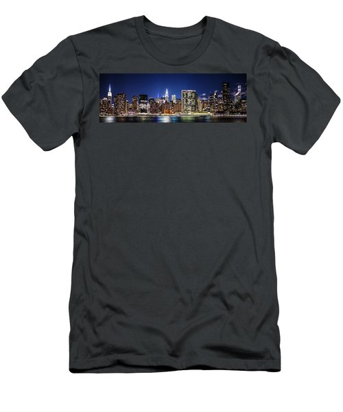 Men's T-Shirt (Athletic Fit) featuring the photograph Nyc Nightshine by Theodore Jones