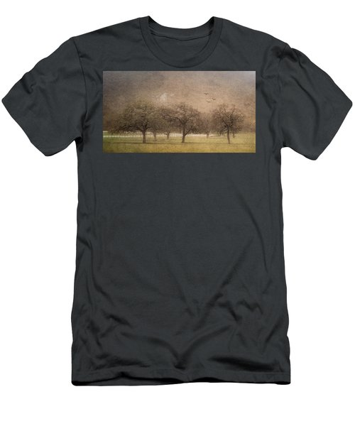 Oak Trees In Fog Men's T-Shirt (Athletic Fit)