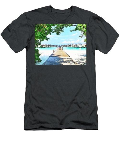 Ocean View Rooms,maldives Men's T-Shirt (Athletic Fit)