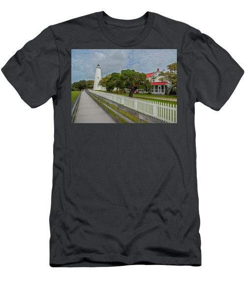 Ocracoke Lighthouse  Men's T-Shirt (Athletic Fit)