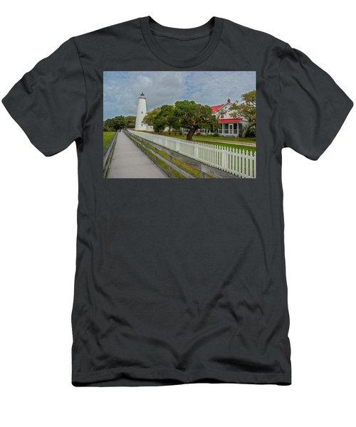 Ocracoke Lighthouse  Men's T-Shirt (Athletic Fit)