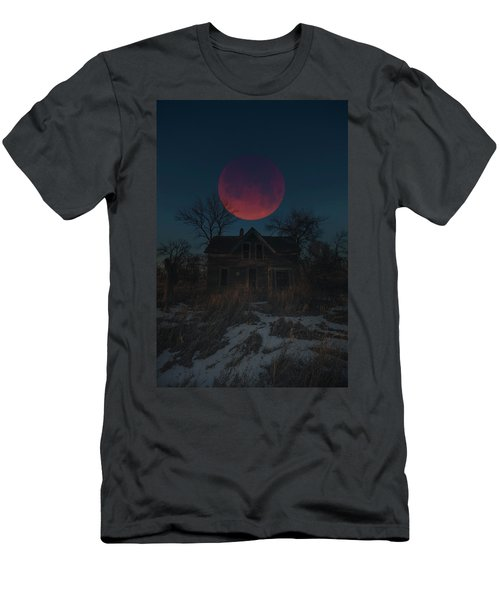 Men's T-Shirt (Athletic Fit) featuring the photograph Of Wolf And Man  by Aaron J Groen