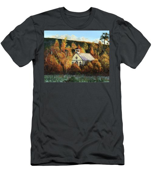 Old Church In Autumn Men's T-Shirt (Athletic Fit)