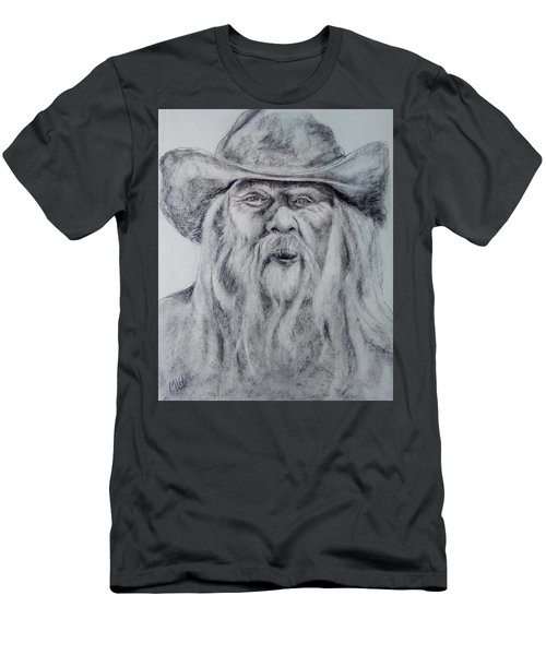 Old Man In A Hat  Men's T-Shirt (Athletic Fit)