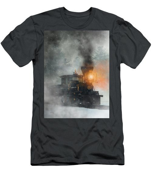 Men's T-Shirt (Athletic Fit) featuring the digital art Old West Steam Train  by Daniel Eskridge