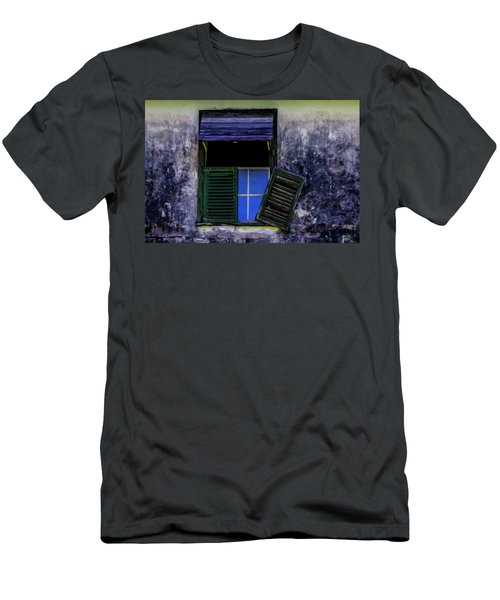 Men's T-Shirt (Athletic Fit) featuring the photograph Old Window 2 by Stuart Manning