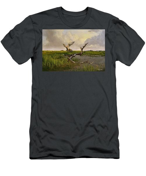 Old World Kestrel At Dawn Men's T-Shirt (Athletic Fit)