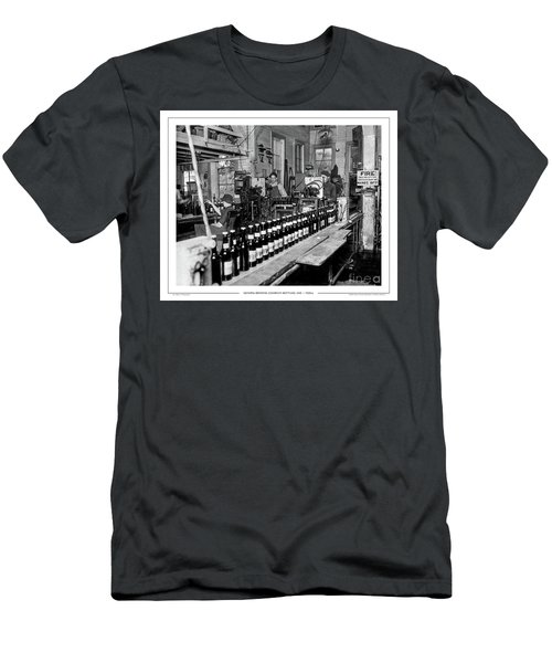 Men's T-Shirt (Athletic Fit) featuring the photograph Olympia Brewing Company Bottling Line, 1920ca by Joe Jeffers