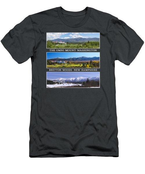 Omni Three Season Transparent Print Men's T-Shirt (Athletic Fit)