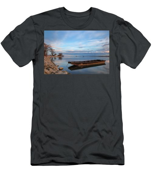 Men's T-Shirt (Athletic Fit) featuring the photograph On The Shore Of The Lake by Davor Zerjav