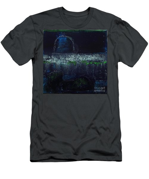 Men's T-Shirt (Athletic Fit) featuring the painting Once In A Blue Moon by Kim Nelson