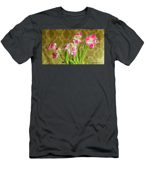 Opening Tulips Men's T-Shirt (Athletic Fit)