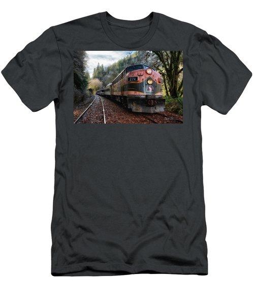 Oregon Coast Railroad Men's T-Shirt (Athletic Fit)