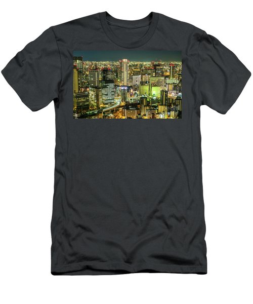 Osaka Skyline, Japan Men's T-Shirt (Athletic Fit)