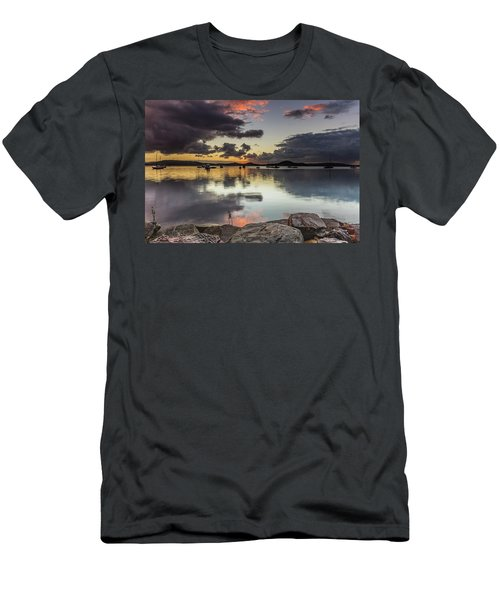 Overcast Waterscape With Hints Of Colour Men's T-Shirt (Athletic Fit)