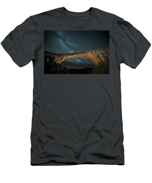 Owachomo Natural Bridge And Milky Way Men's T-Shirt (Athletic Fit)