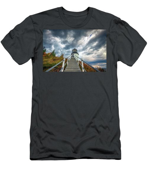 Men's T-Shirt (Athletic Fit) featuring the photograph Owls Head Lighthouse by Rick Berk