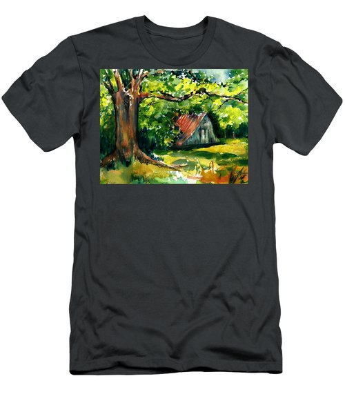 Ozarks Barn In Boxley Valley - Late Summer Men's T-Shirt (Athletic Fit)